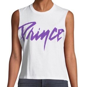 AO.LA Prince Muscle Tee M/L NWT White Purple